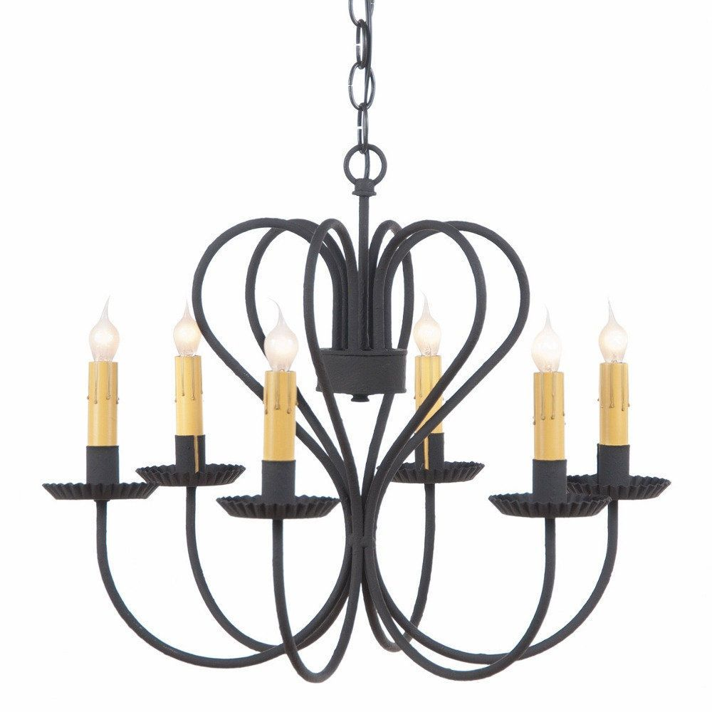 Large RUSTIC WROUGHT IRON HEART CHANDELIER 6 Candelabra Country – Rustic Wrought Iron Chandelier