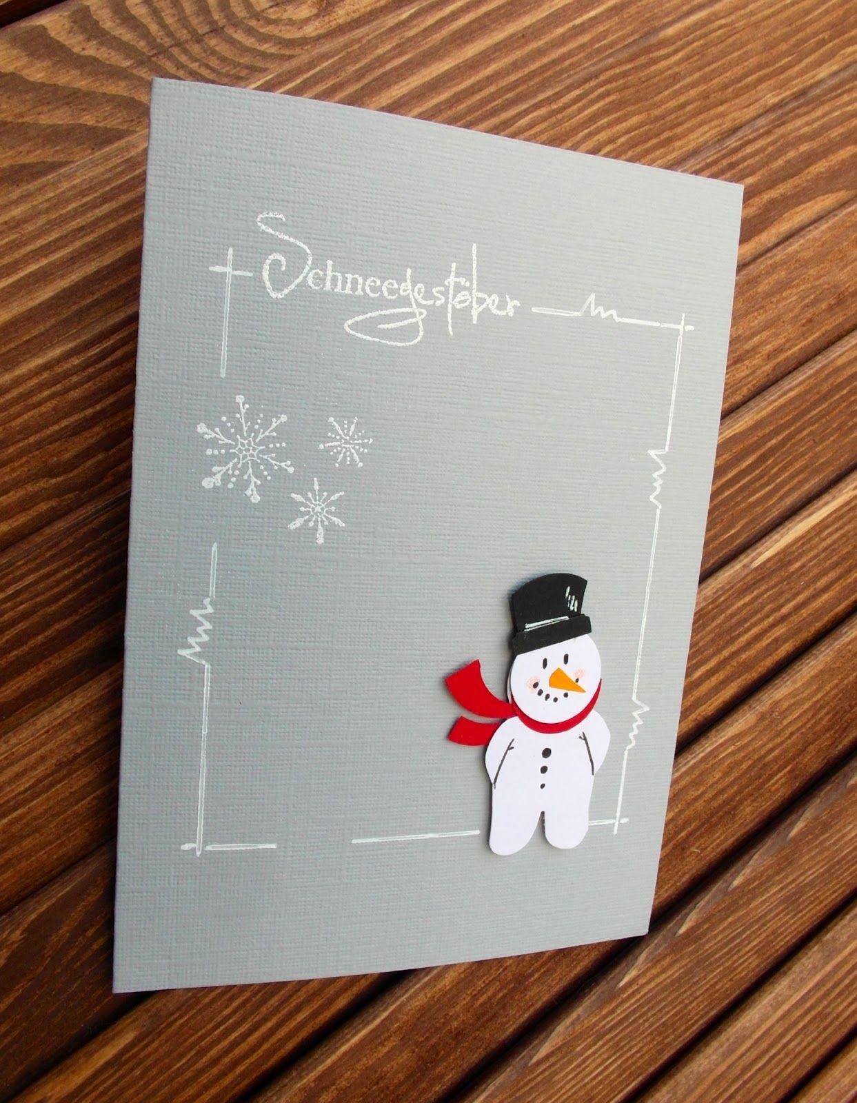 Haus voller Ideen: Schneemann mit Blütenstanze