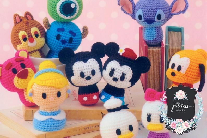 Disney Tsum Tsum Winnie the Pooh Medium Crochet Amigurumi | Etsy | 529x794