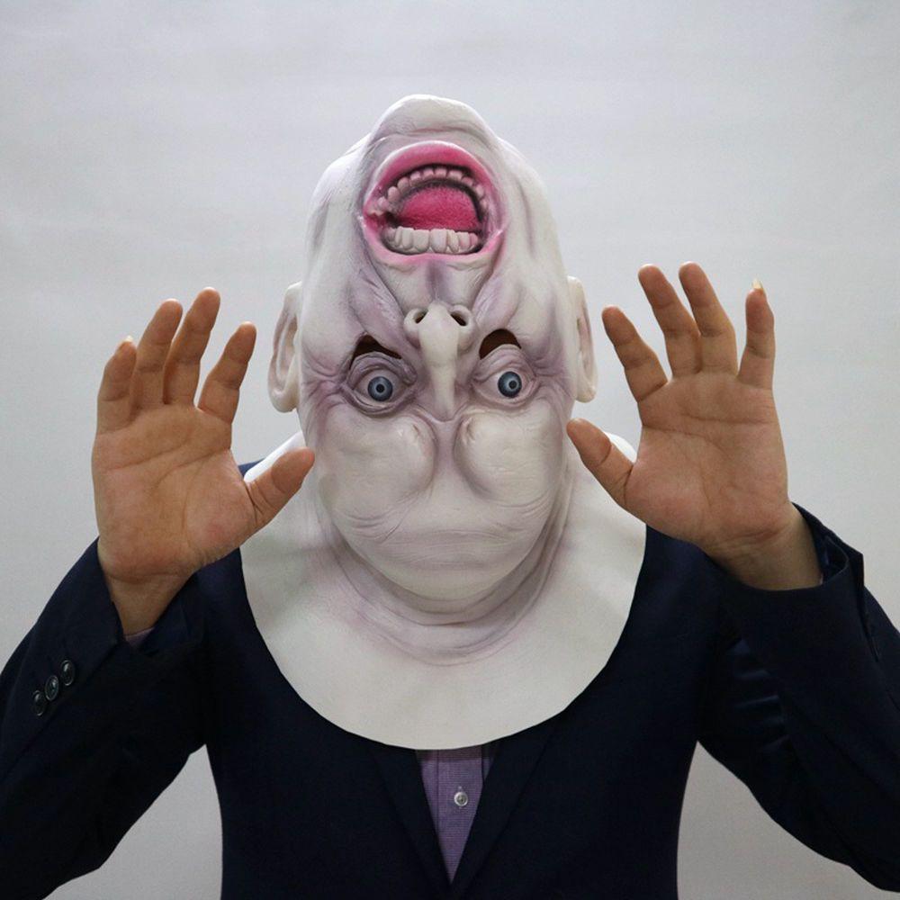 Halloween Scary Full Face Head Mask Latex Cosplay Horror Costume