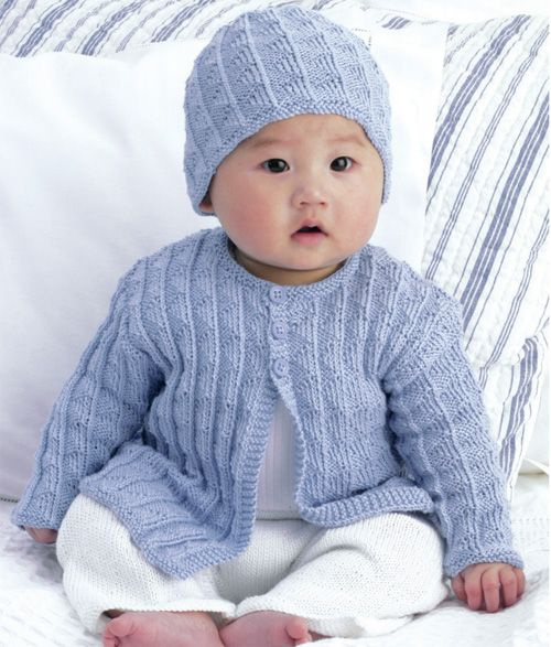 39ea5a891c3edf We Like Knitting  Cardigan   matching Hat - Free Pattern