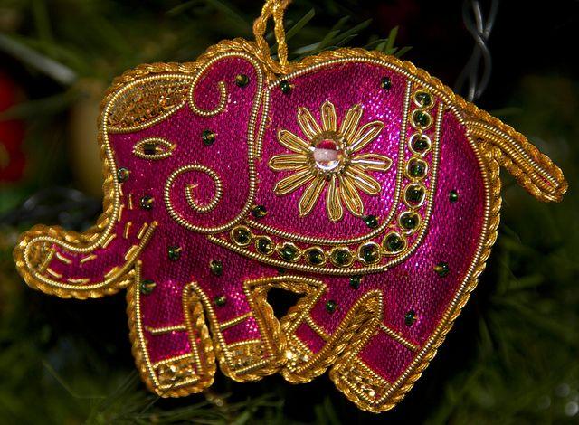 2012 01 01 Indian Elephant Christmas Decoration Christmas Decorations Christmas Ornaments Christmas Fair Ideas