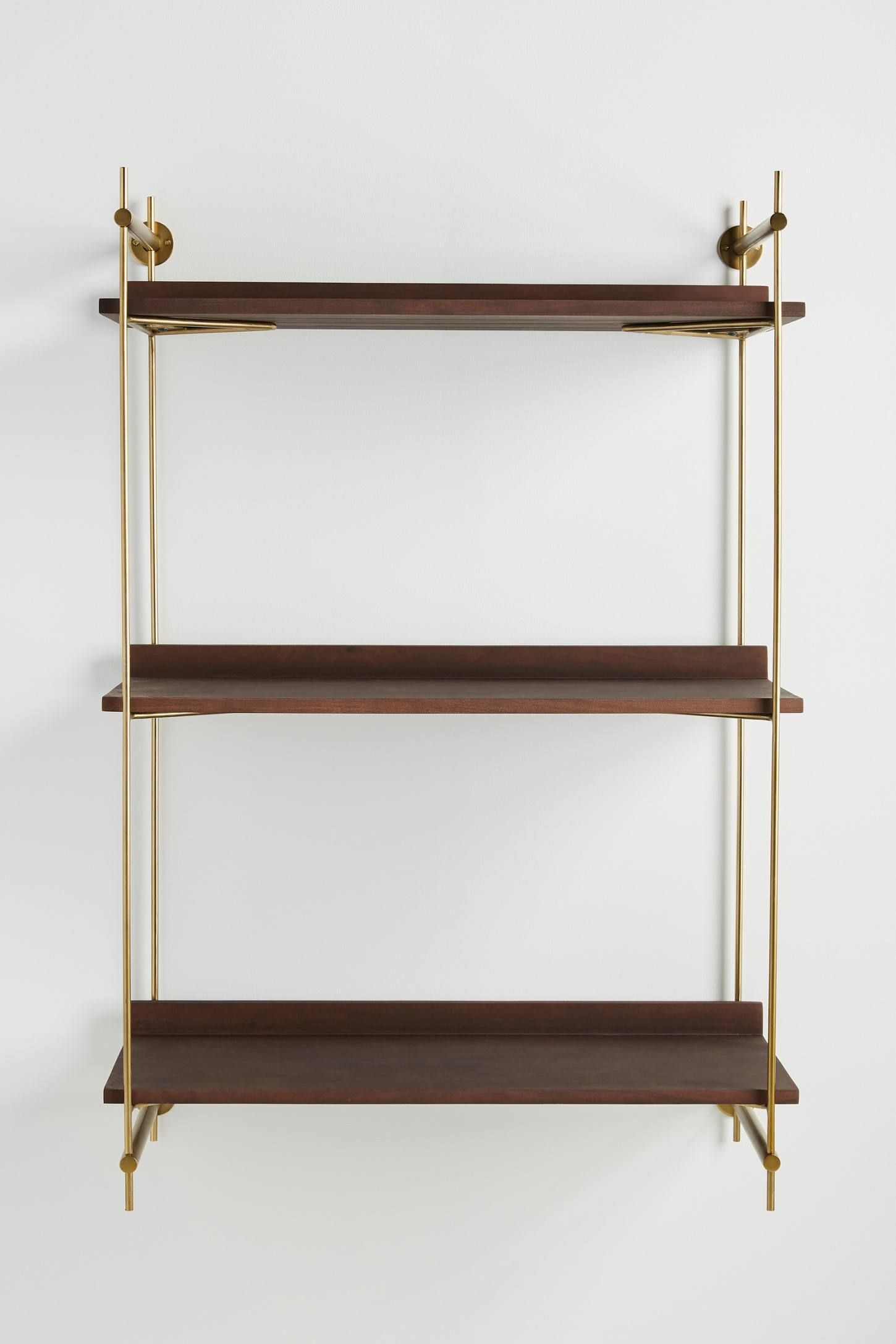 Astoria Wall Mounted Shelving Unit By Anthropologie In Brown Size