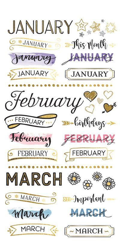 Paper House Productions Life Organized Monthly Planner Stickers with Foil Accents
