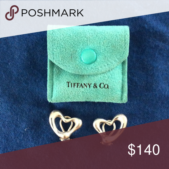Tiffany silver clip earrings Tiffany Elsa Perretti heart shaped silver clip earrings. Each earring is 1.5 inches diameter Tiffany & Co. Jewelry Earrings