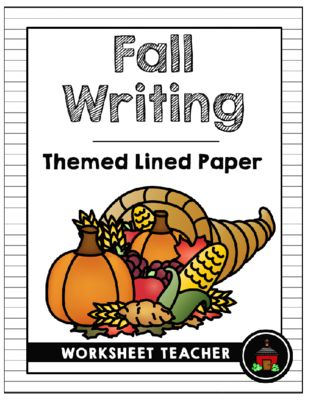 Fall Writing Themed Lined Paper Writing Paper Sets Pinterest - lined paper for writing