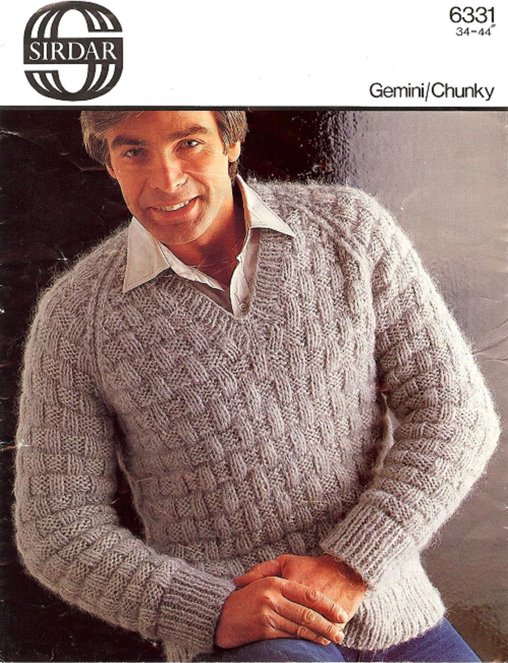 Sirdar knitting pattern 6331 chunky mans raglan v neck sweater sirdar knitting pattern 6331 chunky mans raglan v neck sweater bankloansurffo Image collections