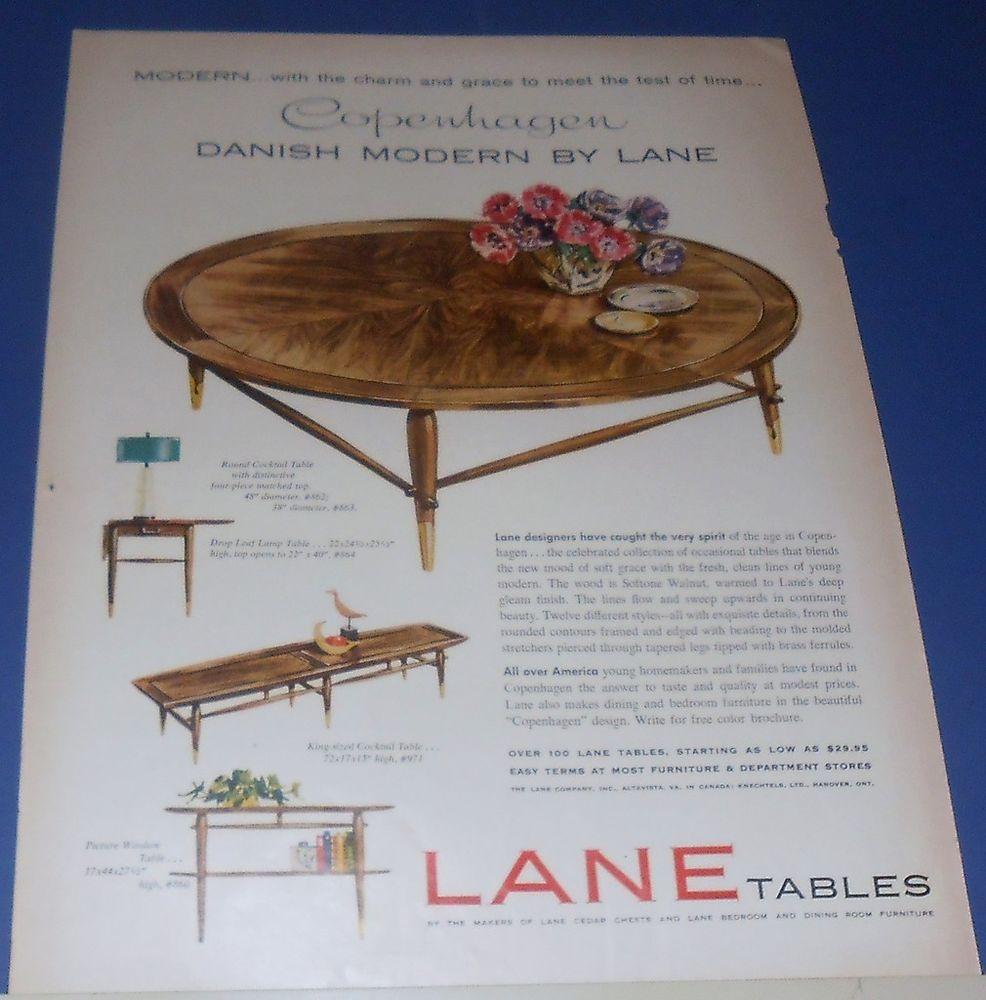 1958 Lane Tables Ad Copenhagen Danish Modern Danish Modern Patio Furniture Redo Furniture