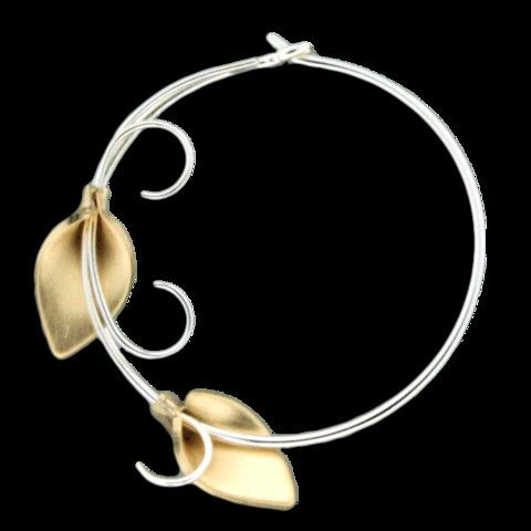 Hand Crafted Lily Vine Hoop Earrings by SwaseyFashion on Etsy