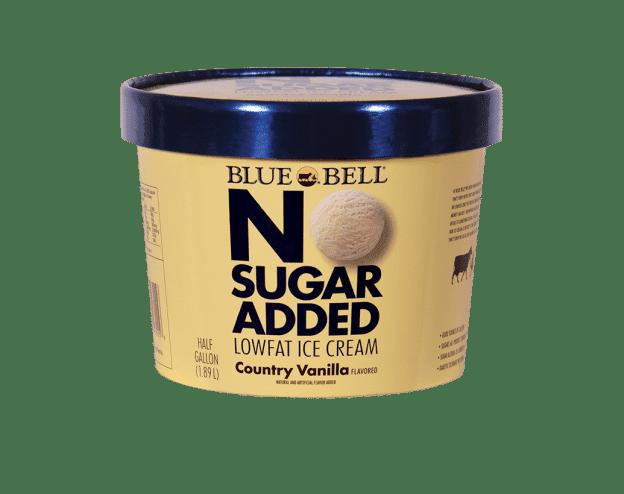 Blue Bell No Sugar Added Country Vanilla Vanilla ice
