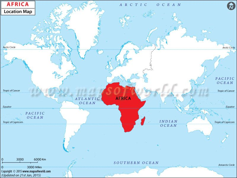 Africa On A Map Of The World Where is Africa | Africa Location in World Map | World map africa