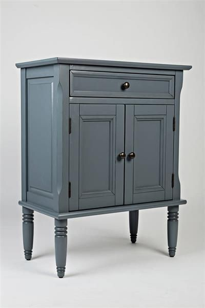 Ordinaire Hannah Cornflower Blue Wood Avignon Small Accent Cabinet