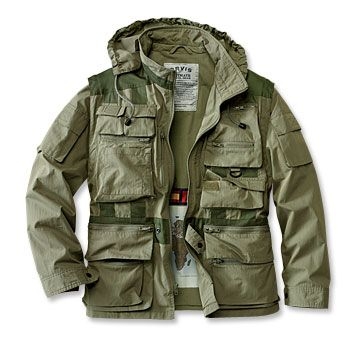 8b345f23a75 The sleeves zip off and it has 28 pockets inside and out. What do you not  like about this jacket