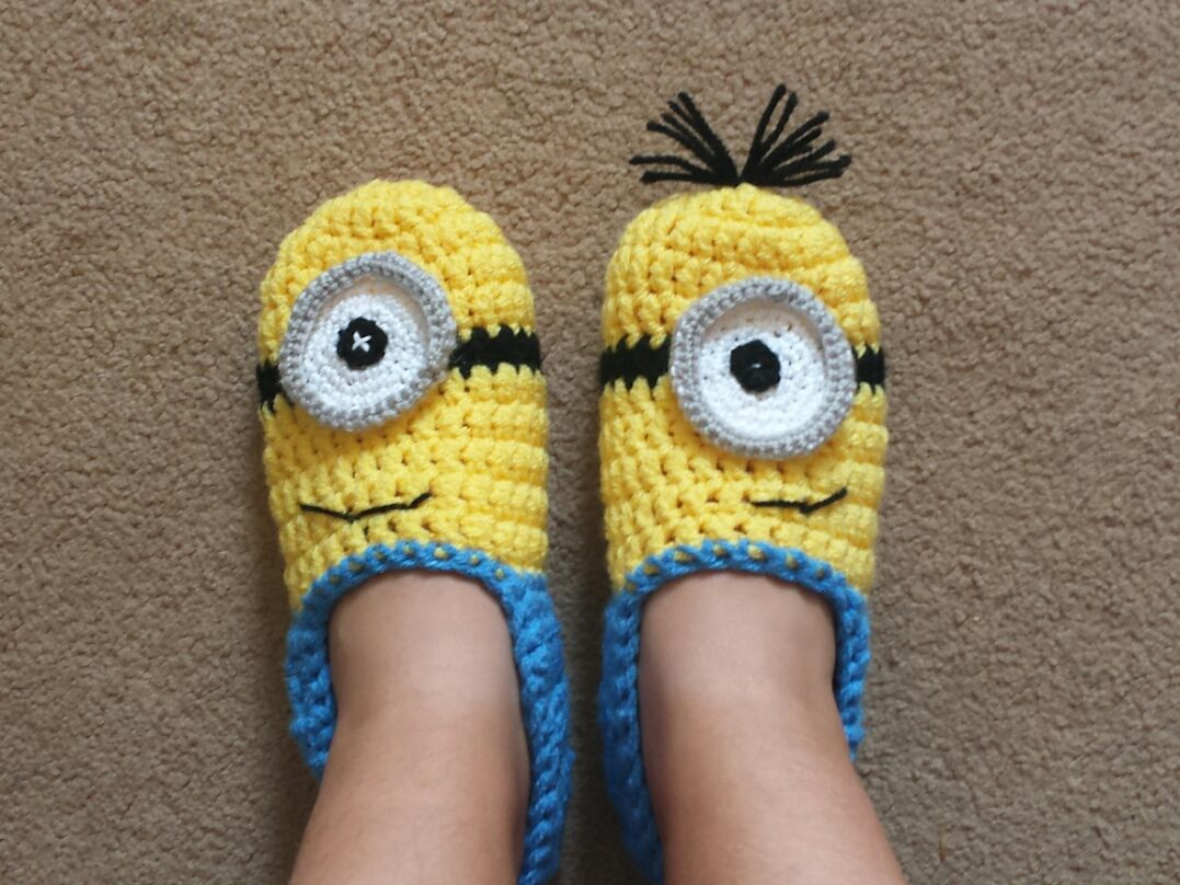 Ravelry: Minion slippers yellow and blue by Atelier Handmade | Hot ...