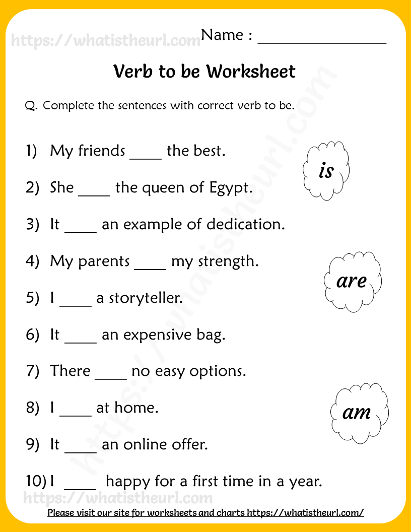 Verb to be Worksheets for Grade 2 - Your Home Teacher   2nd grade worksheets [ 1056 x 816 Pixel ]