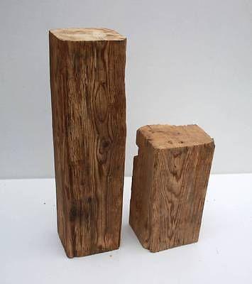 Stele Stelen Alte Holzbalken Altholz Skulptur Holzsaule