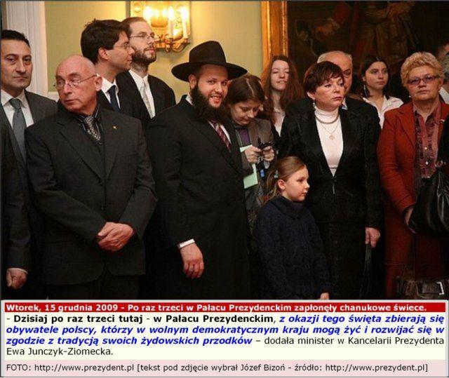 15.12.2009, Warszawa, Pałac Prezydencki - Święto Chanuka - KLIKNIJ