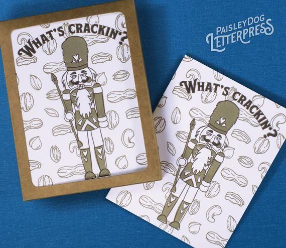 Letterpress Greeting Cards - What's Crackin? / Nutcracker ...