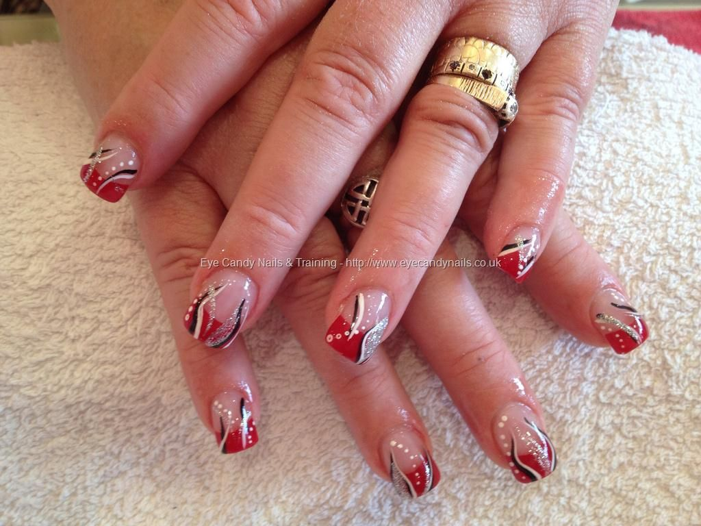 1000 Images About Red White And Black Nails On Pinterest Nail Art Designs  Halloween Nails And Acrylics - Easy Valentines Day Red And White Nail Art Design Youtube. Simple