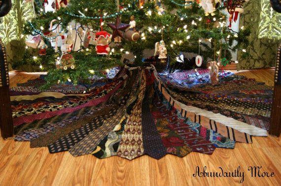 Necktie Christmas Tree Skirt | Crafts | Pinterest | Tree skirts ...