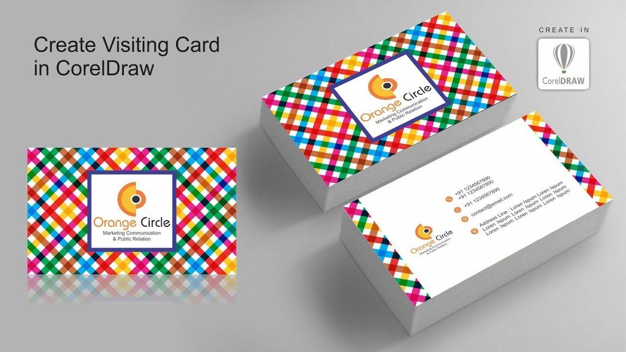 visiting card design  coreldraw x7  visitng card