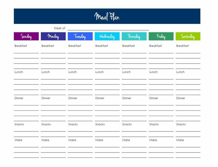 Meal Planning Template Excel Google Search 111 Meal