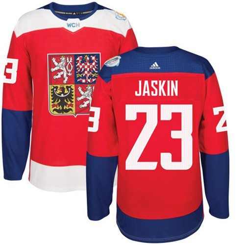 Team Czech Republic 23 Dmitrij Jaskin Red 2016 World Cup Stitched Nhl Jersey Nhl Jerseys Hockey World Cup Custom Jerseys