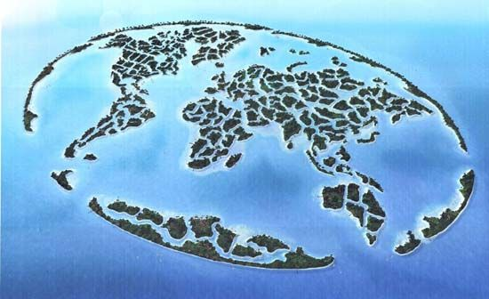 An artificial cluster of islands constructed in the shape of a world an artificial cluster of islands constructed in the shape of a world map world islands united arab emirates gumiabroncs Image collections