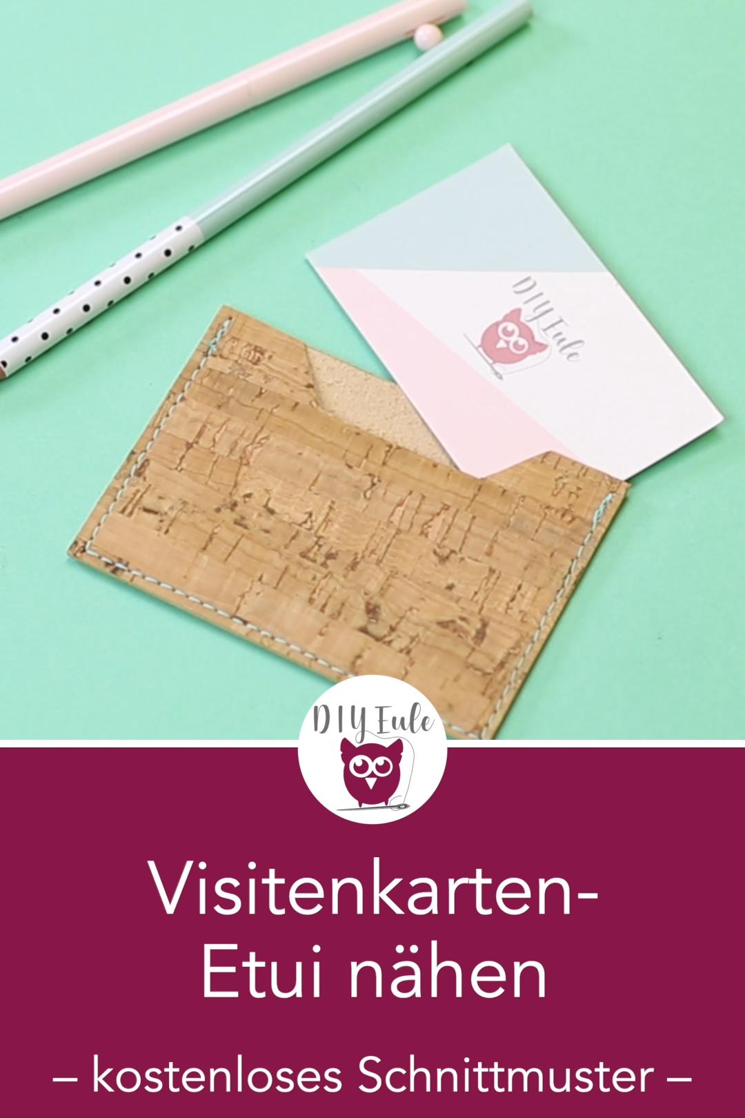Photo of Visitenkarten-Etui aus Kork nähen