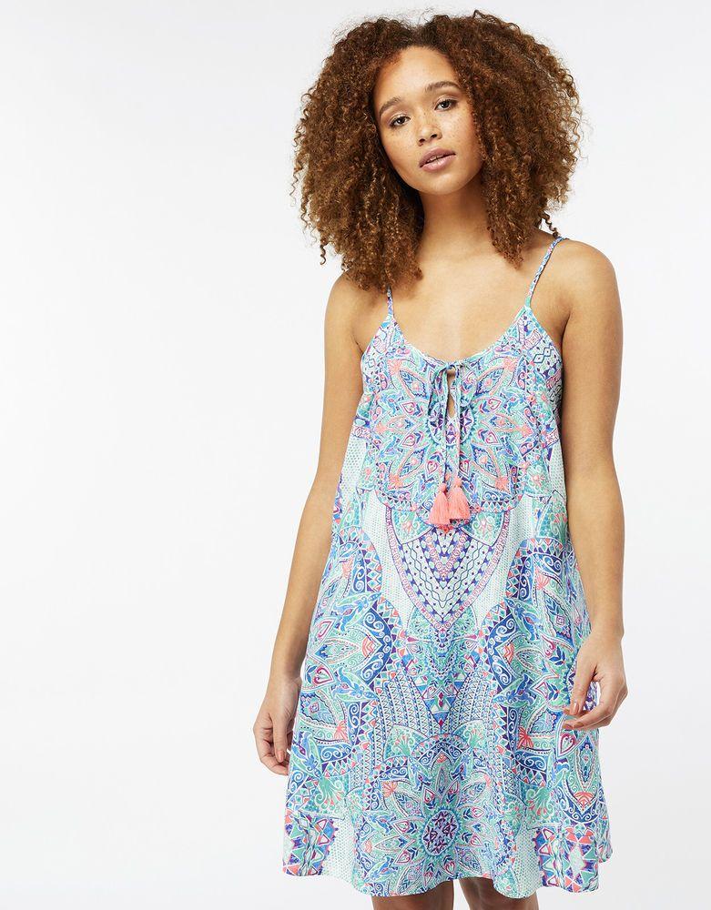 2ba0dc0988cd ACCESSORIZE Mandala Placement Kaftan Beach Dress Cover Up Sarong Size 14    L  fashion