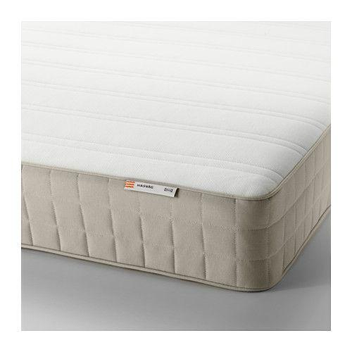 HASVÅG Spring mattress, medium firm, beige, Twin IKEA