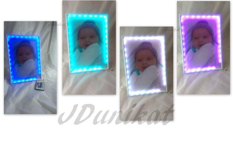 Nachttischlampen - LED Fotorahmen mit Foto - ein Designerstück von Jana079 bei DaWanda