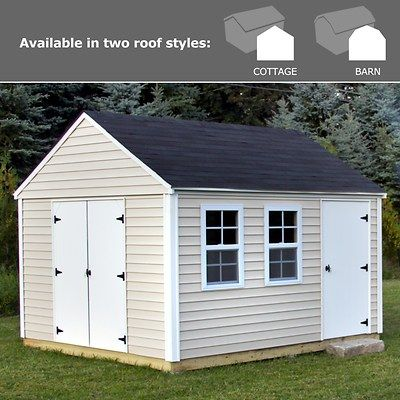 Quality Outdoor Structures 10 X 12 Vinyl Siding Shed With Delivery And Installation Shed Shed Design Outdoor Storage Sheds