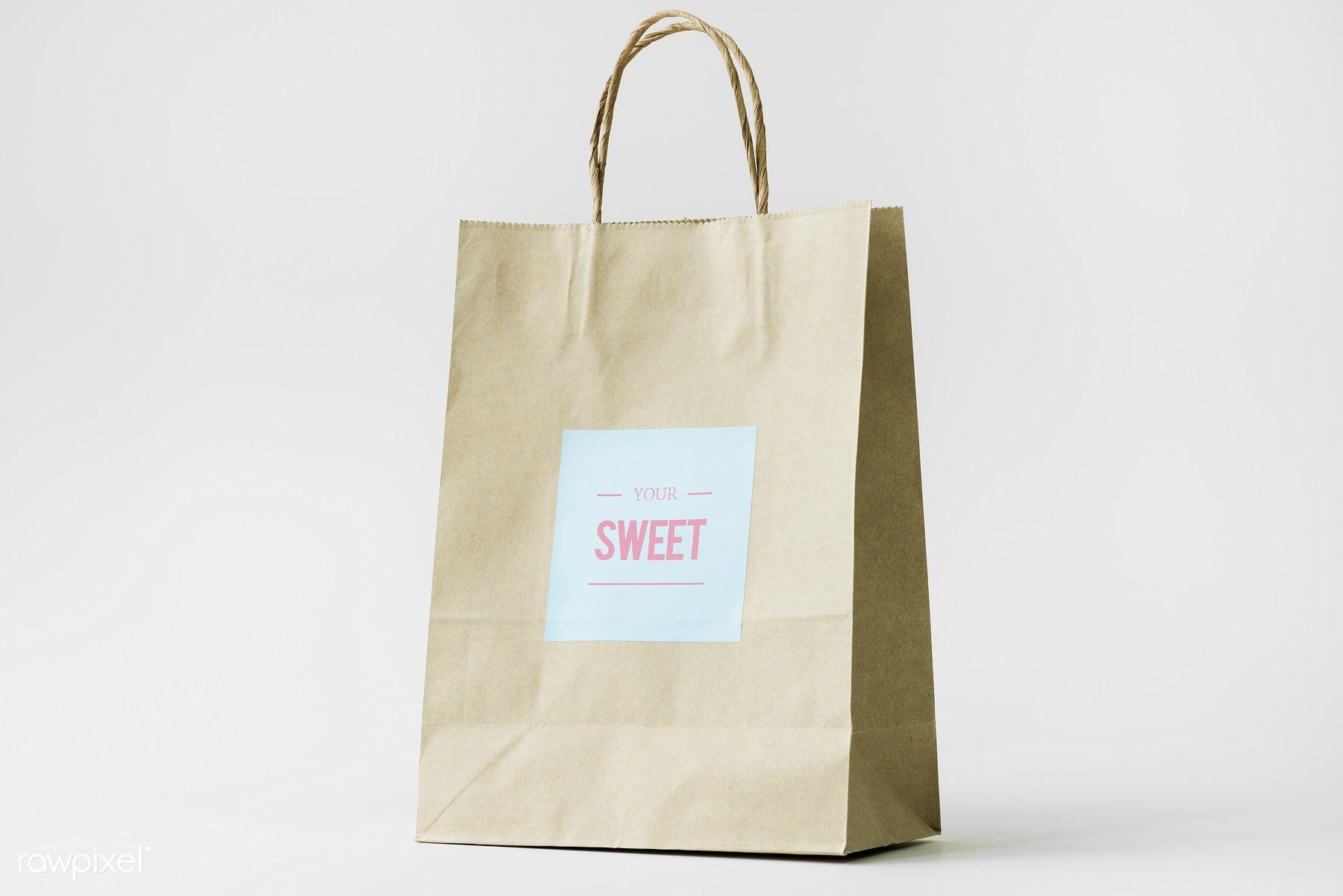 Download Download Premium Image Of Paper Bag Mockup 296325 Bag Mockup Paper Bag Design Bags