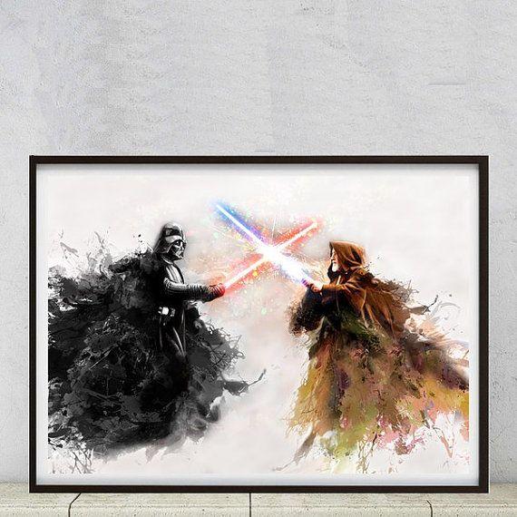Star Wars Pop Art Poster Gemälde Kunstdruck Von Printofyourdream