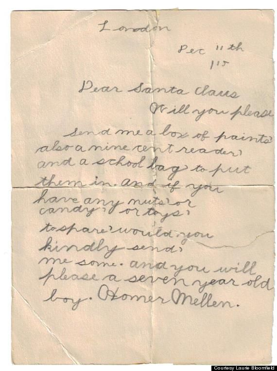 LOOK: This Letter To Santa Is Almost 100 Years Old   Holiday