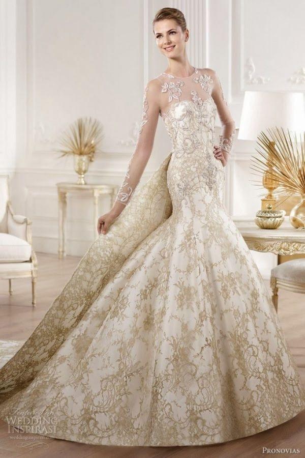 Top 10 Gold Wedding Dresses