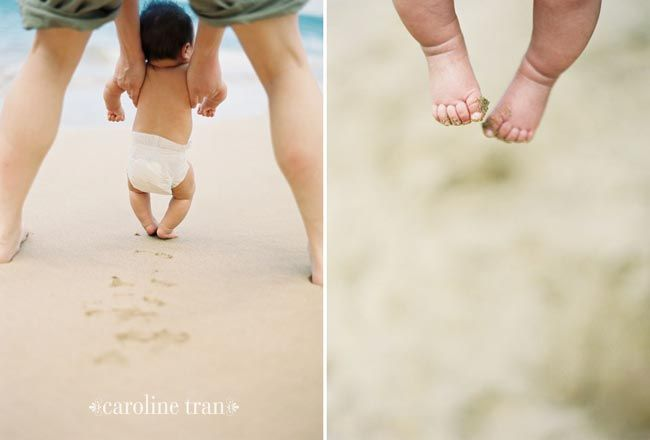 Hawaii baby beach portraits