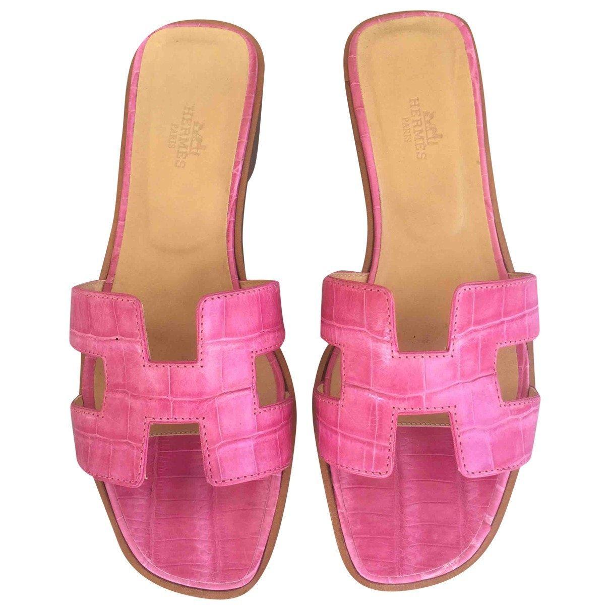 Image result for women-shoes sandals hermes pink-crocodile-oran-hermes- sandals b072f354068