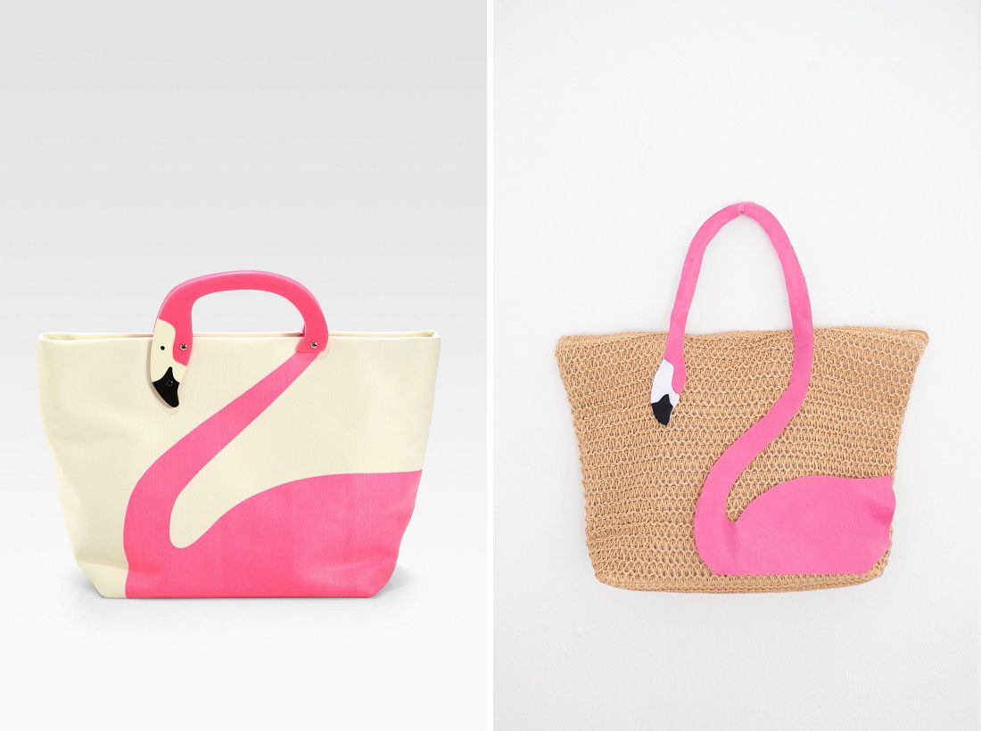 diy this kate spade flamingo tote bag in minutes couffin sac plage et panier. Black Bedroom Furniture Sets. Home Design Ideas