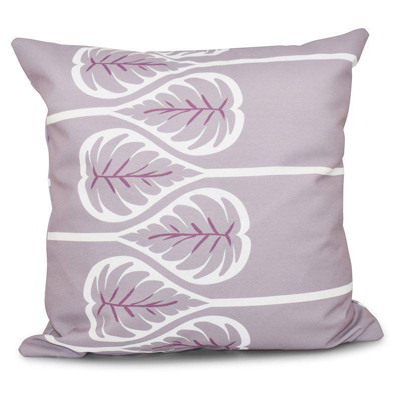 E by Design Botanical Blooms Fern 1 Decorative Pillow