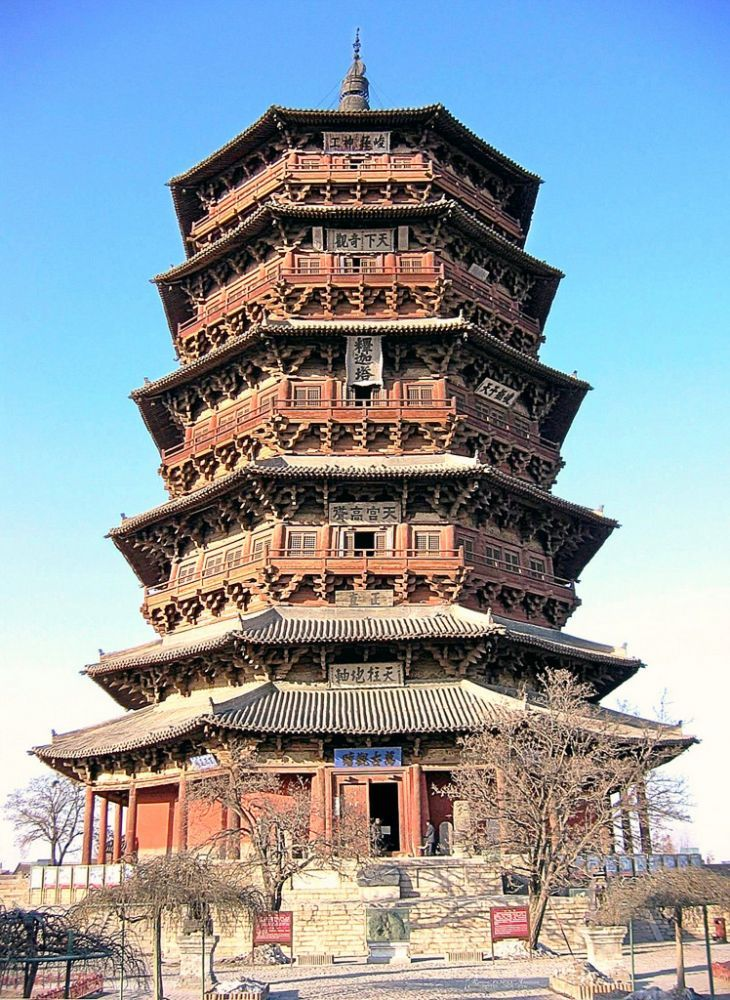 fogong temple yinxian chinese architecture cool scenes