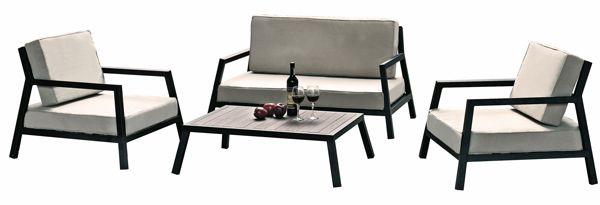 GARDEN ITALIA: a set of black lacquered aluminium, for small spaces – interior decoration and design