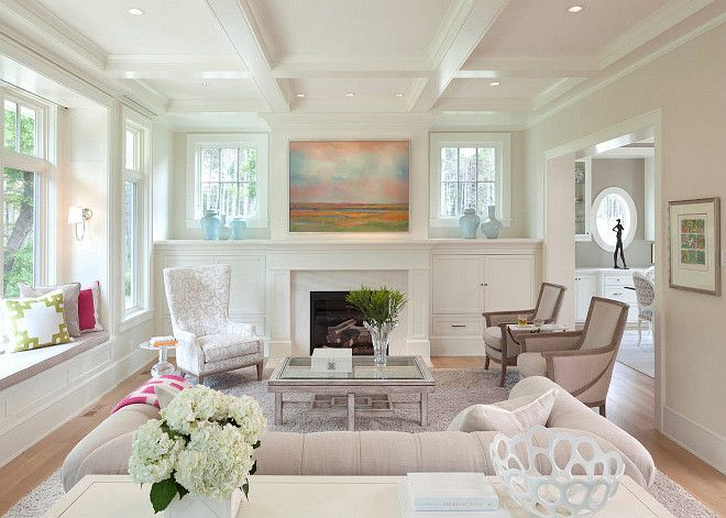 Coffered Ceiling Window Seat Windowsfireplace Perfect Custom Living Room Window Designs Inspiration