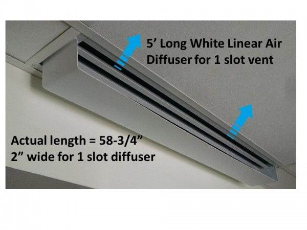 Linear Air Diffuser | Linear Air Diverter | Ceiling Air Vent