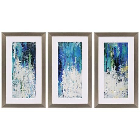 Surface 41 High Triptych 3 Piece Framed Wall Art Set C