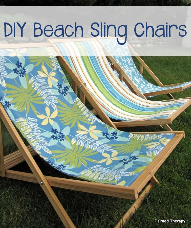 Diy Folding Sling Chairs Beach Chairs Diy Diy Chair Sling Chair