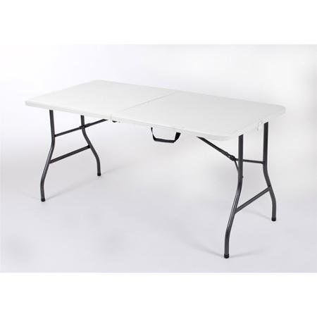 Mainstays 5 Centerfold Table White Folding Table Table Walmart Folding Table