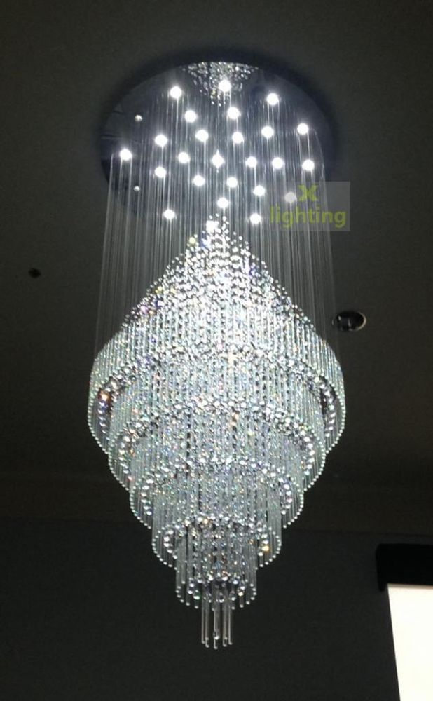W48 Xh9 Modern Large Crystal Pendant Light Ceiling Lamp Chandelier Led Lighting Ebay Ceiling Pendant Lights Ceiling Lights Crystal Chandelier Lighting