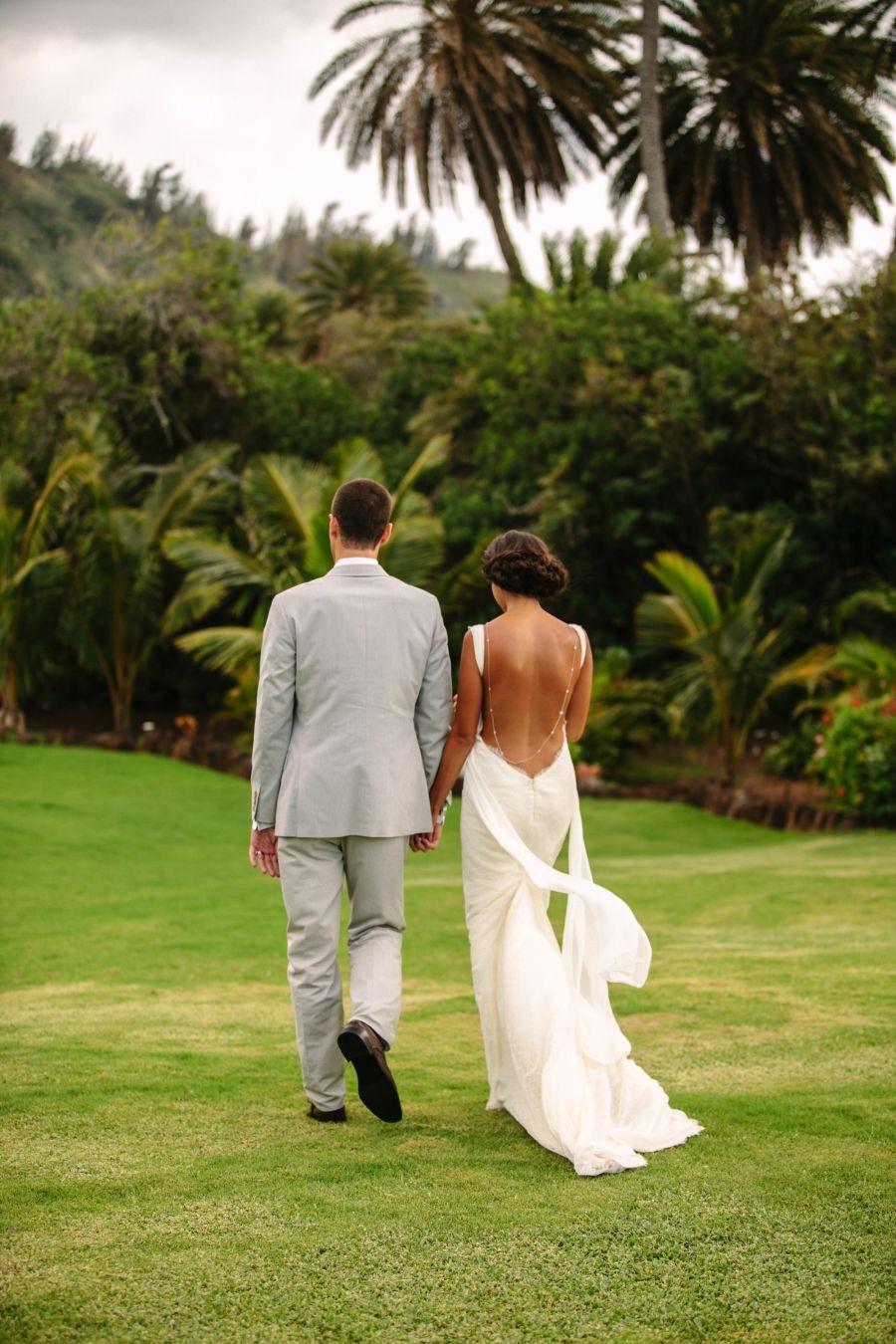 Love the back necklace an elegant blush powder blue hawaii
